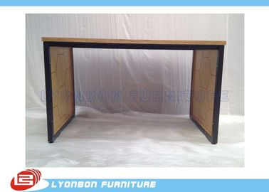 Melamine Finished Black Metal Retail Display Tables Shopping Mall MDF Display Table